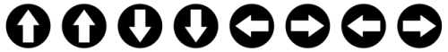 Les touches de déplacement à enclencher haut, haut, bas, bas, gauche, droite, gauche, droite, pour dézoner le Player de la Freebox Révolution