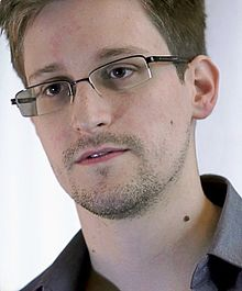 Photo de Edward Snowden, informaticien américain, ancien employé de la CIA et de la NSA, qui a révélé les détails de plusieurs programmes de surveillance de masse américains et britanniques