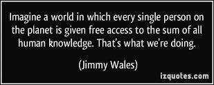 Imaginez un monde dans lequel on donne à chaque personne sur la planète un accès libre à la somme de toutes les connaissances de l'humanité. C'est ce que nous faisons.
