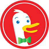 Logo du métamoteur de recherche anonyme américain DuckDuckGo